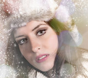 Portrait of attractive young woman in winter Stock Image