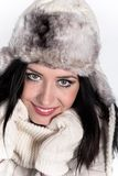 Portrait of attractive young woman in winter Royalty Free Stock Images