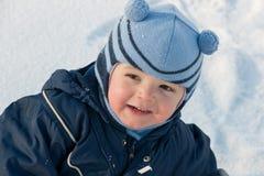 Portrait auf dem Schnee Lizenzfreies Stockfoto