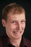 Portrait auf schwarzem Hintergrund Lizenzfreie Stockbilder