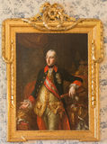 The portrait of Austrian emperor Joseph II in Saint Anton palace by unknown artist of 18. cent. Royalty Free Stock Photography