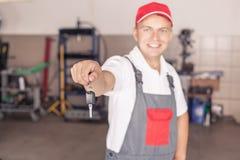 Portrait Of  Auto Mechanic Royalty Free Stock Photos
