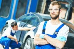 Portrait of auto mechanic worker stock images