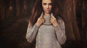 Portrait of a autumn lady Stock Images