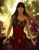 Portrait in the autumn sunlight Stock Photography