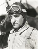 Portrait of aviator Stock Photos