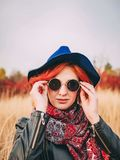 Autumn portrait of woman royalty free stock images