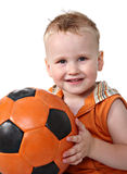 Portrait of baby with ball Stock Image