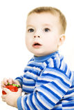 Portrait of baby boy. Close-up  portrait of surprised baby boy Stock Photography