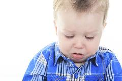 Portrait Of Baby Boy Crying Royalty Free Stock Images