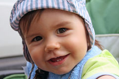 Portrait of a baby boy Stock Images