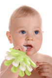 Portrait baby boy with a toy Royalty Free Stock Image