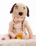Portrait of baby boy on white background royalty free stock photos