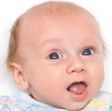 Portrait of a baby closeup Royalty Free Stock Photo