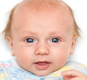 Portrait of a baby closeup Royalty Free Stock Photography