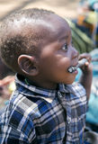 Portrait of a baby closeup of a Hadza tribe Royalty Free Stock Photos