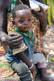 Portrait of a baby closeup of a Hadza tribe Royalty Free Stock Images