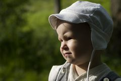 Portrait of baby in the evening Stock Photography