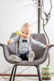 Portrait of a baby with a flower Royalty Free Stock Images