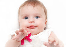 Portrait of baby girl. Portrait of cute baby girl Royalty Free Stock Photos