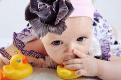 Portrait of baby girl Stock Photos