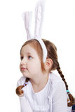 Portrait of baby girl with bunny ears Royalty Free Stock Photos