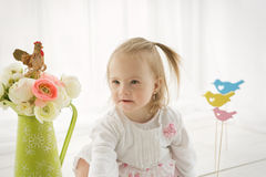 Portrait of a baby girl with Down syndrome. Portrait of a girl with Down syndrome Royalty Free Stock Image