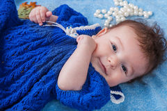 Portrait of baby girl fashionista Stock Photography