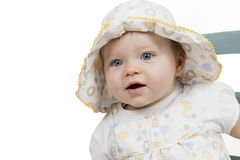Portrait of baby girl with hat Stock Photo