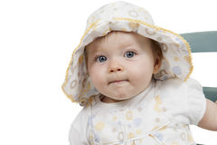 Portrait of baby girl with hat Royalty Free Stock Images