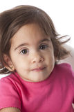 Portrait of a baby girl with large brown eyes Royalty Free Stock Image