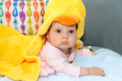 Portrait of a baby girl Royalty Free Stock Photography