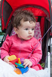 Portrait of baby girl outdoors Royalty Free Stock Photo