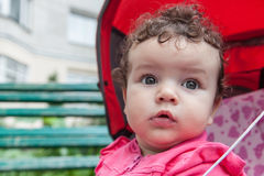 Portrait of baby girl outdoors Royalty Free Stock Photos