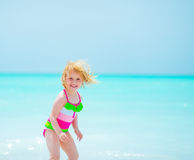Portrait of baby girl at seaside Royalty Free Stock Photo