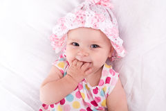 Portrait of a baby girl Stock Images