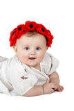 Portrait of baby girl with wreath Stock Images