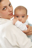 Portrait baby with mum Royalty Free Stock Photos