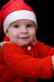 Portrait of baby Santa Royalty Free Stock Photo