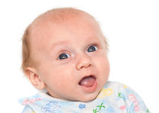 Portrait of a baby with a smile Stock Photos