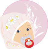 Portrait of the baby. Sticker Stock Photography