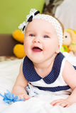 Portrait of baby . sweet baby,laughing little girl Stock Photography