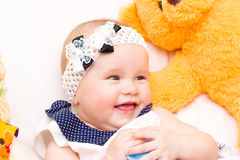 Portrait of baby . sweet baby,laughing little girl Stock Photo