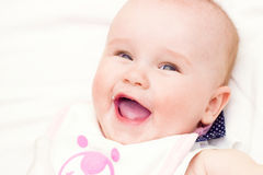 Portrait of baby . sweet baby,laughing little girl Stock Photos