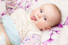 Portrait of baby . sweet baby,laughing little girl Stock Images