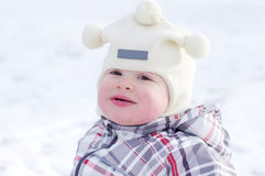 Portrait of baby in winter Royalty Free Stock Photos
