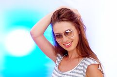 Portrait in backlight Stock Photography