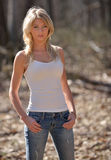 Portrait of a baeutiful smiling blonde woman Stock Image