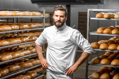 Portrait of a baker Stock Photos