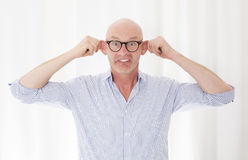 Portrait of a bald-headed man Stock Photography
